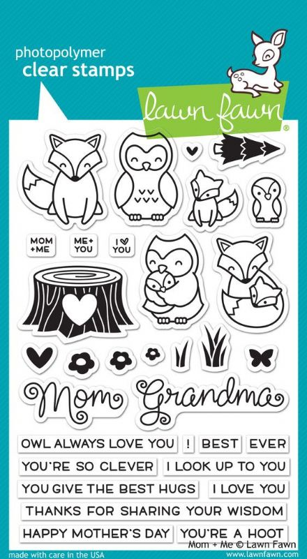 LF1134 ~ MOM & ME ~ CLEAR STAMPS BY LAWN FAWN